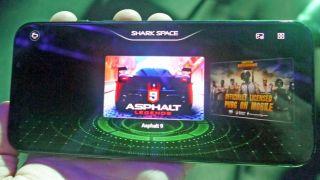 Gaming in the Black Shark 2's dedicated mode (Image credit: TechRadar)