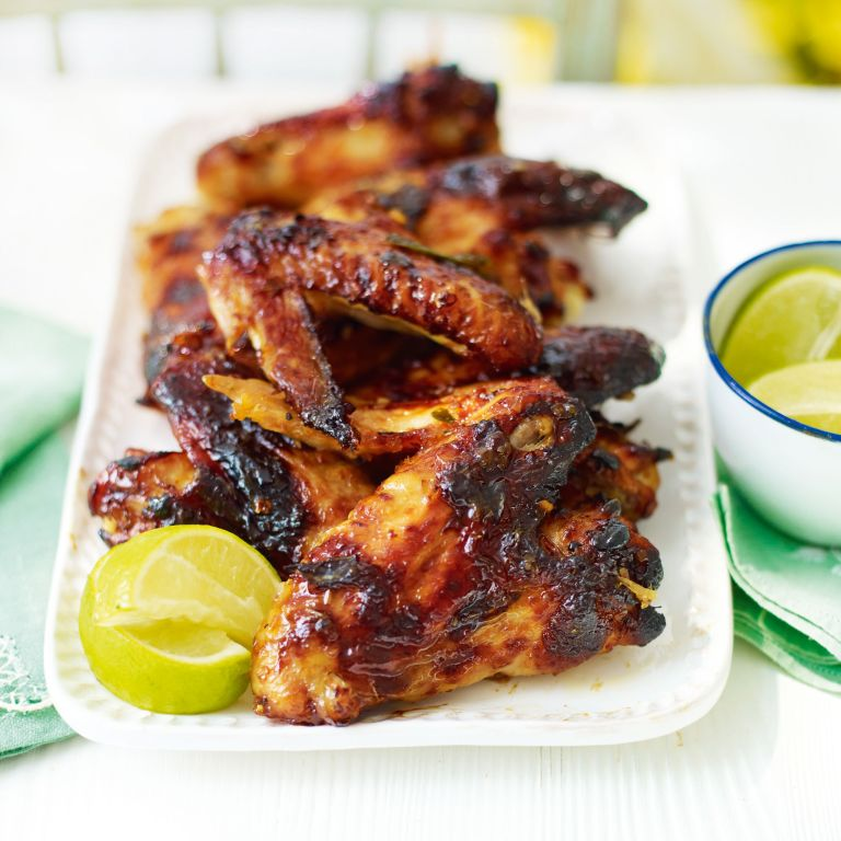 Sticky Chicken Wings-lemongrass-summer food-woman and home