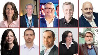 Top row from left: Madeleine Noland, David Mazza, Aaron LaBerge, Grant Petty, Werner Vogels (markralston/Getty Images). Bottom row from left: Poppy Crum, PhD, Joe Inzerillo, Brinton Miller, Lisa Pedroso and John Mailhot.