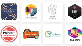 Best free logo designer: screenshot of eight logos