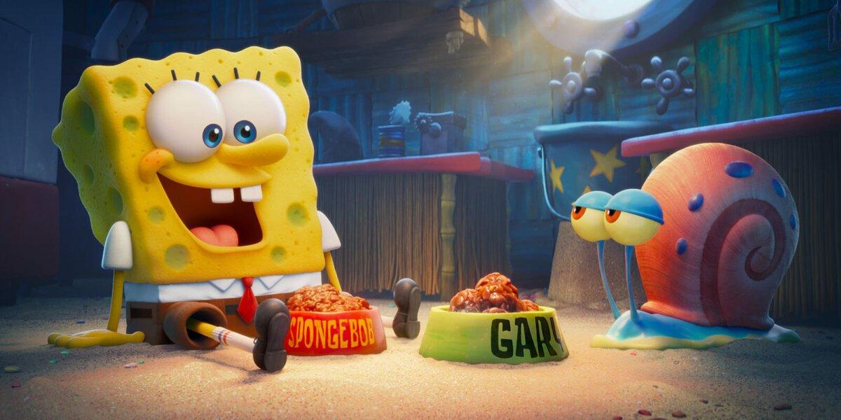 Gary and Spongebob in The Spongebob Movie: Sponge on the Run.