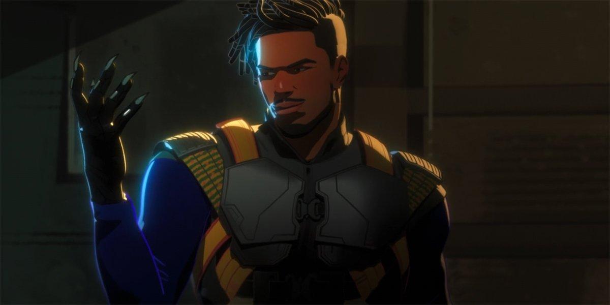 Erik Killmonger wearing Black Panther glove in What If