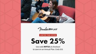 Fender Play discount banner