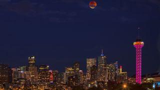 Denver under the blood moon