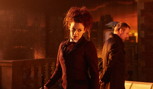 Doctor Who Missy rooftop discussion