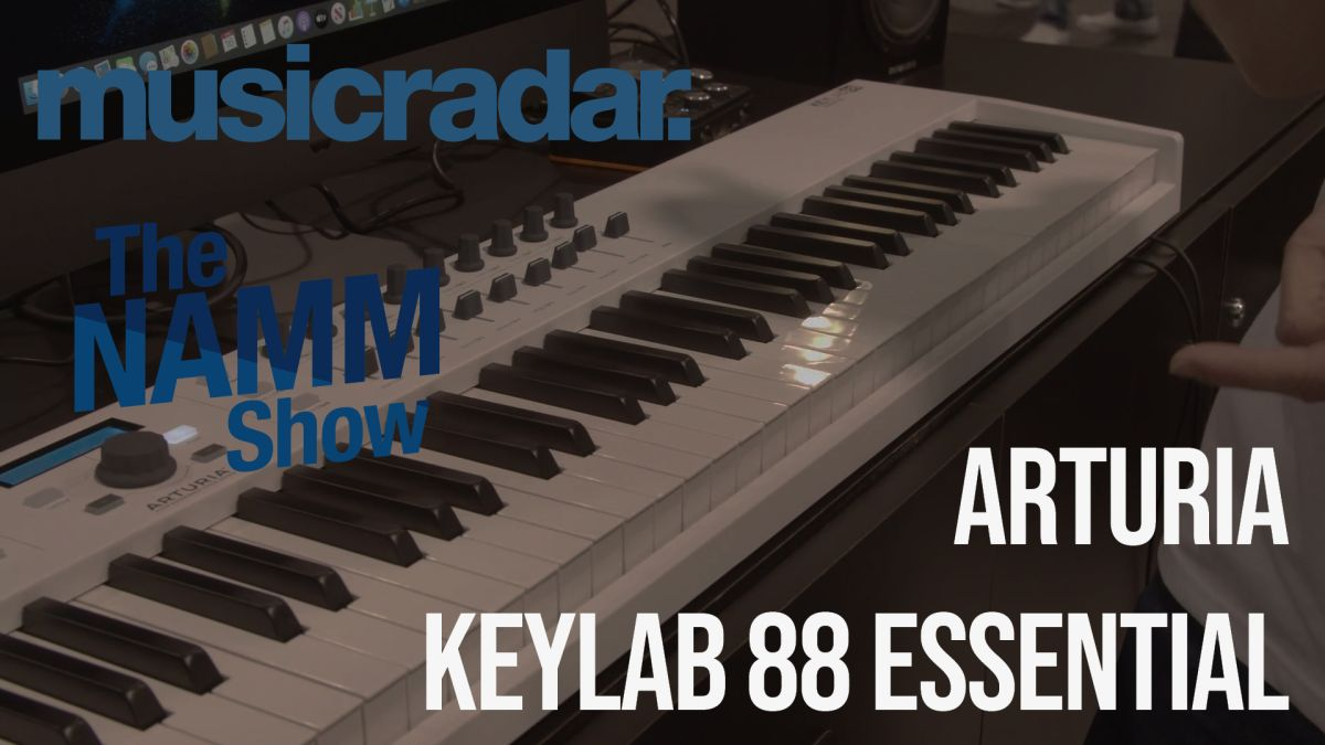 NAMM 2020 VIDEO: Arturia's KeyLab Essential 88 is an 88-note controller keyboard at a wallet-friendly price point