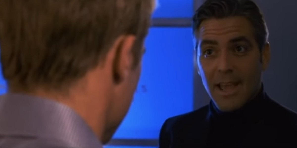George Clooney and Brad Pitt in Ocean's Eleven