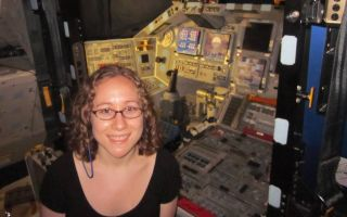 Clara Moskowitz in shuttle Discovery