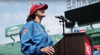 suni williams nasa fenway park