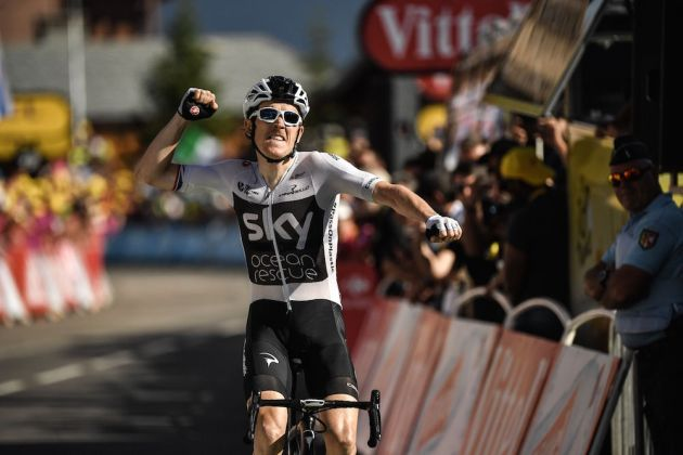 251bda9c2 Geraint Thomas storms to yellow jersey and Tour de France 2018 stage 11  victory