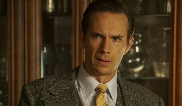 Agent Carter Edwin Jarvis seems confused or concerned