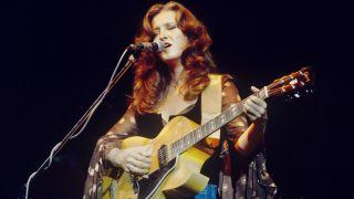 Bonnie Raitt performs live in Amsterdam, Netherlands in 1976