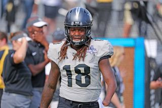 Shaquem Griffin, a linebacker for the University of Central Florida, was born with a condition that resulted in the loss of his hand. Above, Griffin during the AAC Championship game in December, 2017.