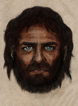 illustration of ancient hunter gatherer