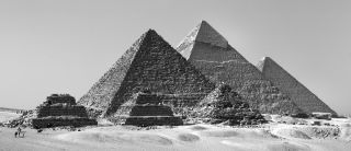 Giza pyramids, discovery, archaeology