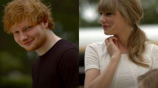 Ed Sheeran and Taylor Swift in