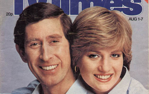 Charles and Di on the TV Times cover way back in 1981, perhaps the most famous royal wedding
