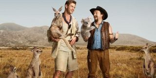 Dundee Chris Hemsworth Danny McBride hanging out with the Australian wildlife