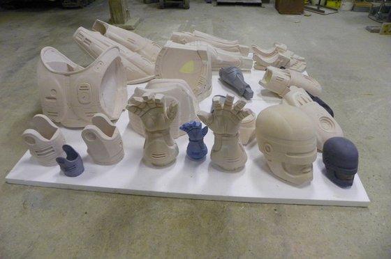 RoboCop Statue parts