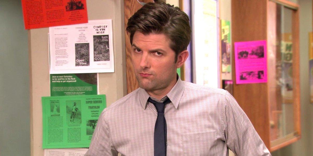 Adam Scott as Ben Wyatt on Parks and Recreation