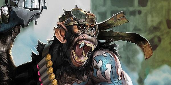 Detective Chimp Injustice 2 concept art.