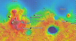 mars rover landing site