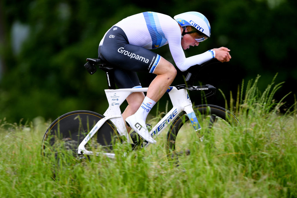 FRAUENFELD SWITZERLAND JUNE 06 Stefan Kng of Switzerland and Team Groupama FDJ during the 84th Tour de Suisse 2021 Stage 1 a 109km Individual Time Trial from Frauenfeld to Frauenfeld UCIworldtour tds tourdesuisse on June 06 2021 in Frauenfeld Switzerland Photo by Tim de WaeleGetty Images