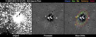New Horizons' 1st Pluto Hazard Search