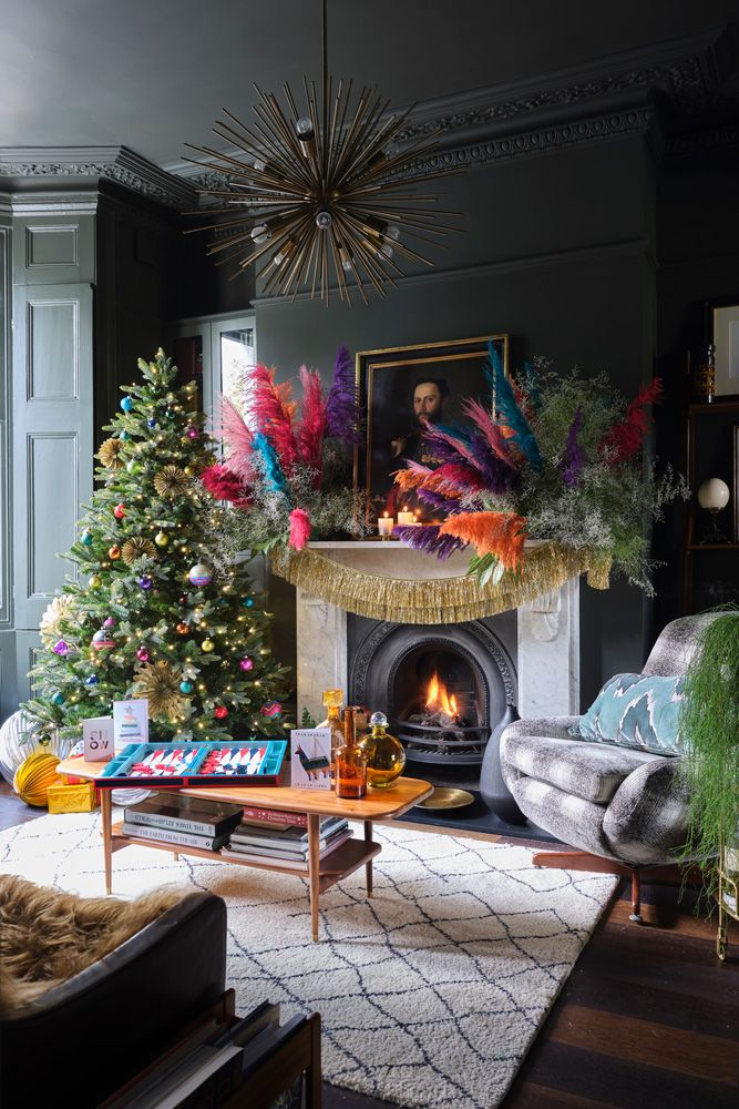 This dark and decadent Victorian house in south London is dressed perfectly for Christmas