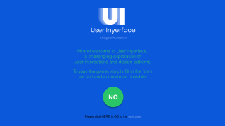 User Inyerface landing page