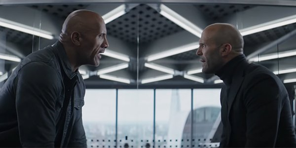 Hobbs and Shaw in each other's faces