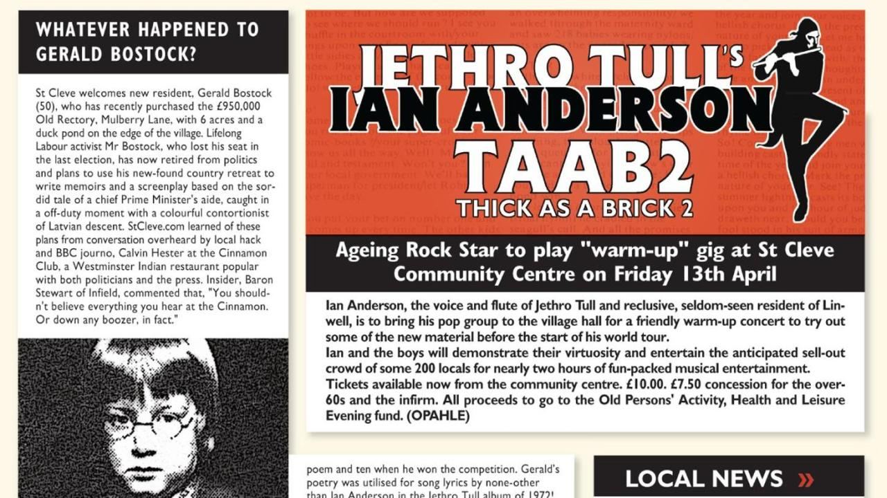 Image result for ian anderson thick as a brick part 2