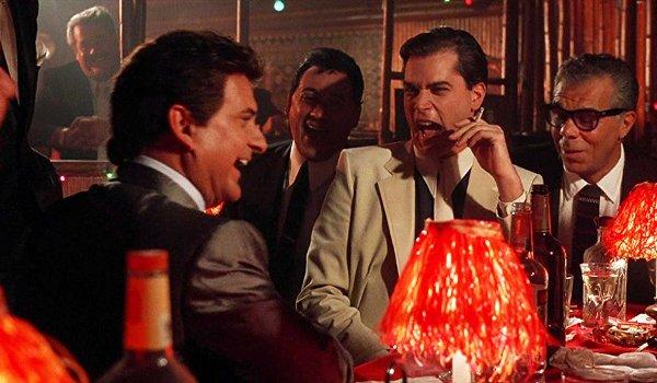 Goodfellas Joe Pesci Ray Liotta laughing it up over drinks