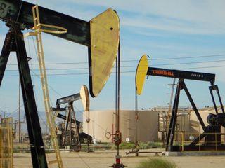 The Lost Hills Oil Field in Kern County, California, near Bakersfield.