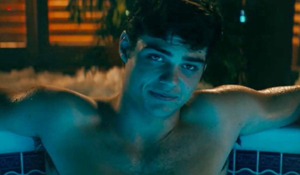 Noah Centineo shirtless in To All the Boys I've Loved Before on Netflix.