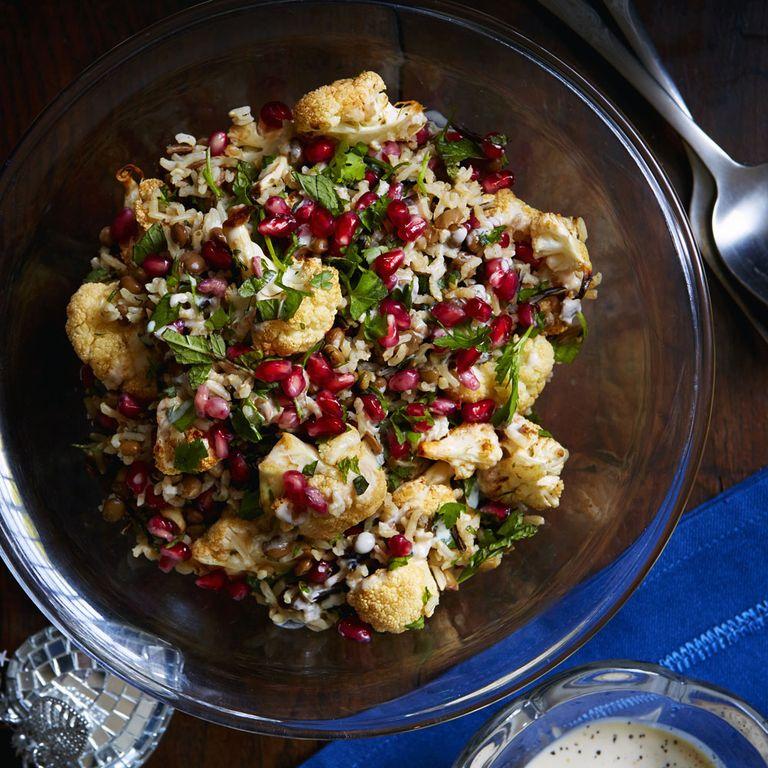 cauliflower and tahini salad
