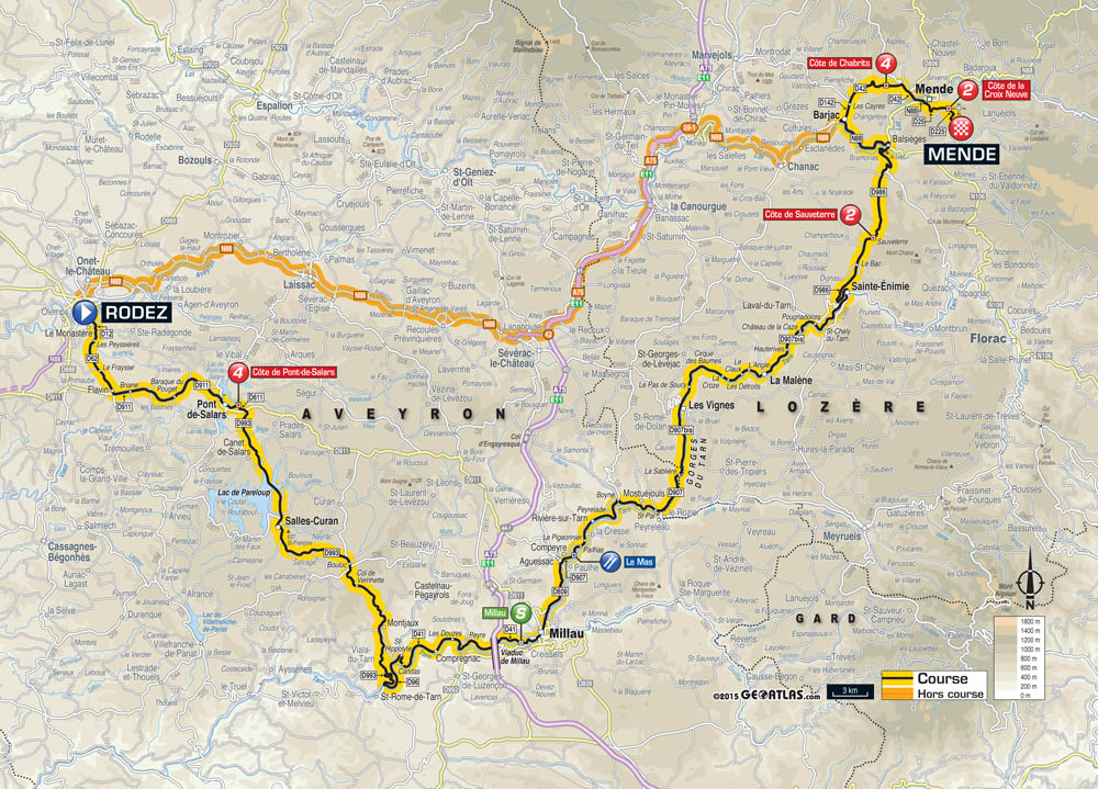 Tour de france 2015 stage 14 preview cycling weekly tour de france 2015 stage 14 map gumiabroncs Image collections