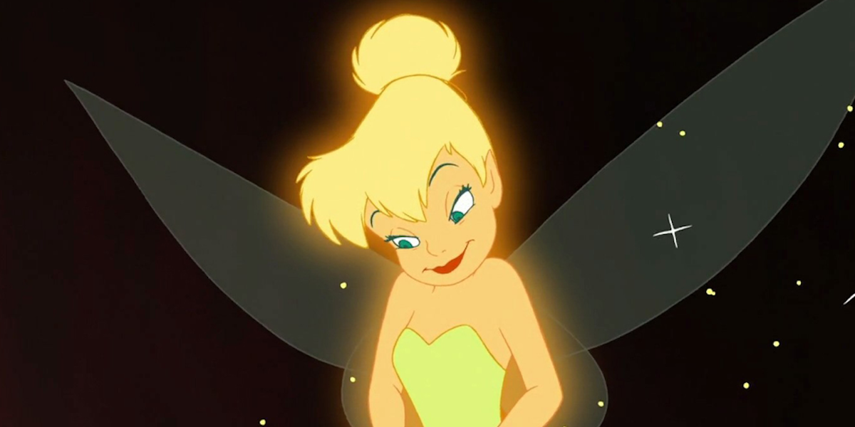 Tinker Bell in classic Peter Pan