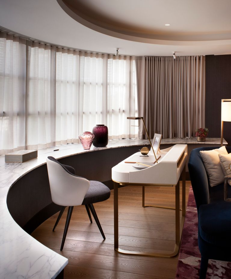 Modern, sleek home office