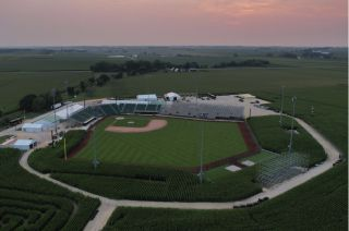 DYERSVILLE, IA - JULY 21: during the Field of Dreams Preview at Field of Dreams Movie Site on Wednesday, July 21, 2021 in Dyersville, Iowa. (Photo by Quinn Harris/MLB Photos via Getty Images)