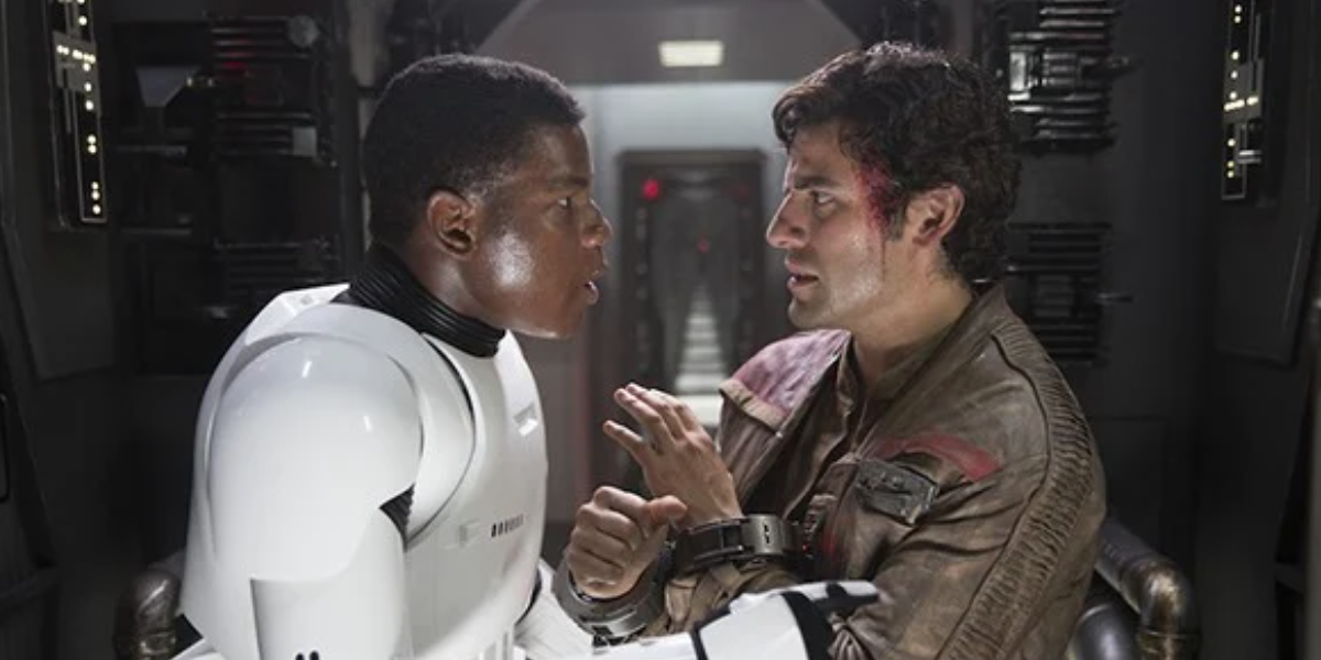 Poe and Finn in The Force Awakens