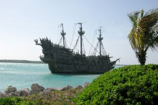 A Caribbean pirate ship