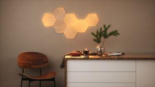 Nanoleaf Elements smart lights in home