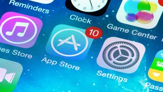 Apple App Store icon on screen