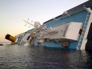 The sinking cruise ship Costa Concordia