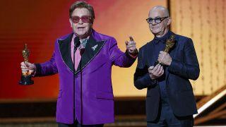 Elton John and Bernie Taupin at the 2020 Oscars