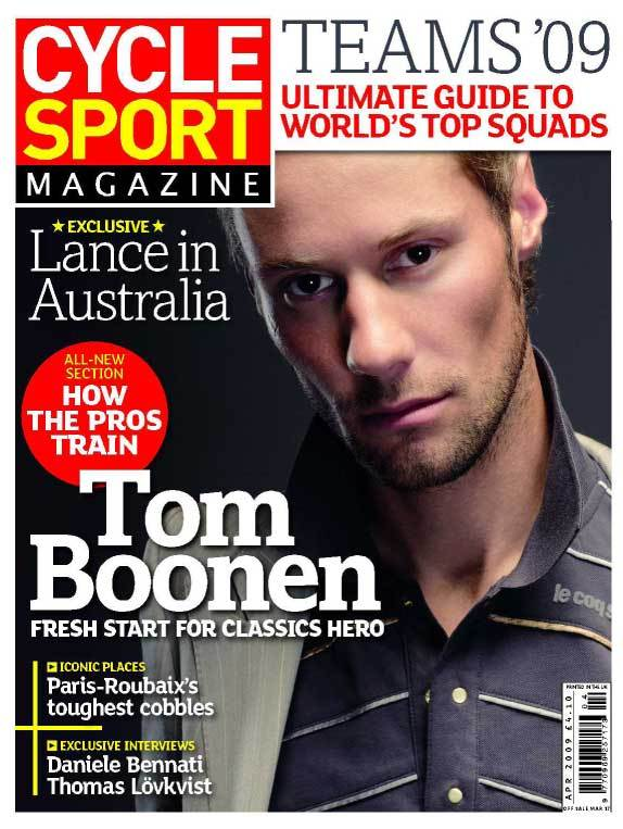 Cycle Sport April 2009 cover
