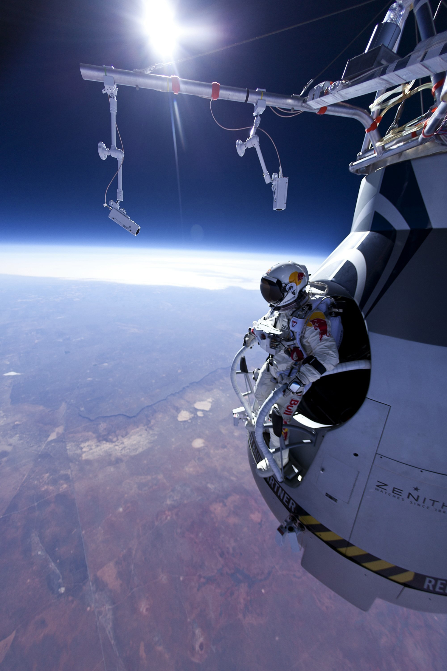 Skydiver Leaps From Stratosphere in 'Space Jump' Practice | Space