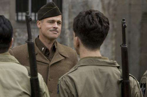 Inglourious Basterds - Brad Pitt's Lt Aldo Raine leads the eponymous Basterds in Quentin Tarantino's audacious World War Two action movie