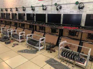 Crypto Coin Mining Internet Cafe
